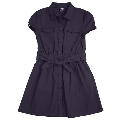 Girls 4-20 French Toast School Uniform Canvas Shirt Dress