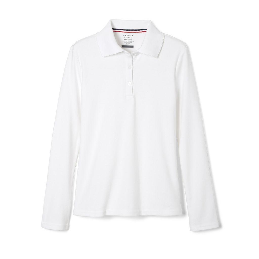 Girls 7-20 & Plus Size French Toast School Uniform Long-Sleeved Polo Shirt