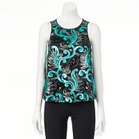 Women's WDNY Black Sequin Tank