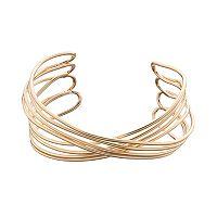 LC Lauren Conrad Multi Row Crisscross Cuff Bracelet