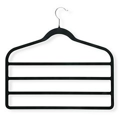 Honey-Can-Do 4-pack Velvet Touch Pant Hanger