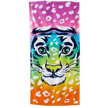Jumping Beans Rainbow Tiger Beach Towel