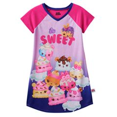 Girls 4-10 Num Noms Berry Cakes, Candie Puffs & Flap Jackie Scented 'Sweet' Nightgown