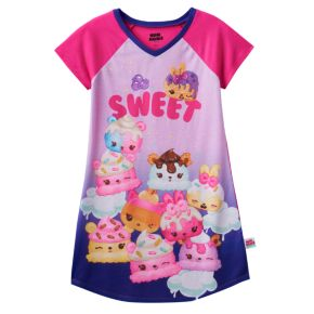"""Girls 4-10 Num Noms Berry Cakes, Candie Puffs & Flap Jackie Scented """"Sweet"""" Nightgown"""