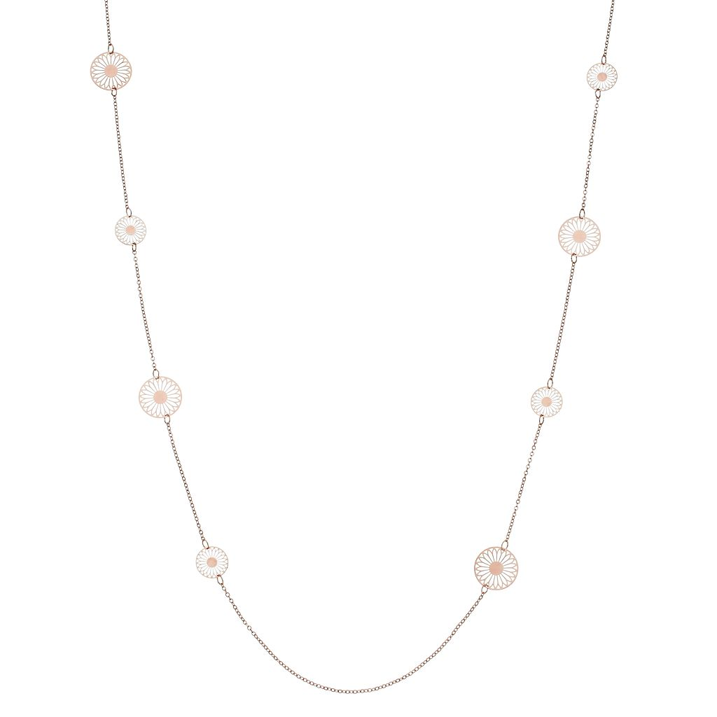 LC Lauren Conrad Filigree Disc Long Station Necklace