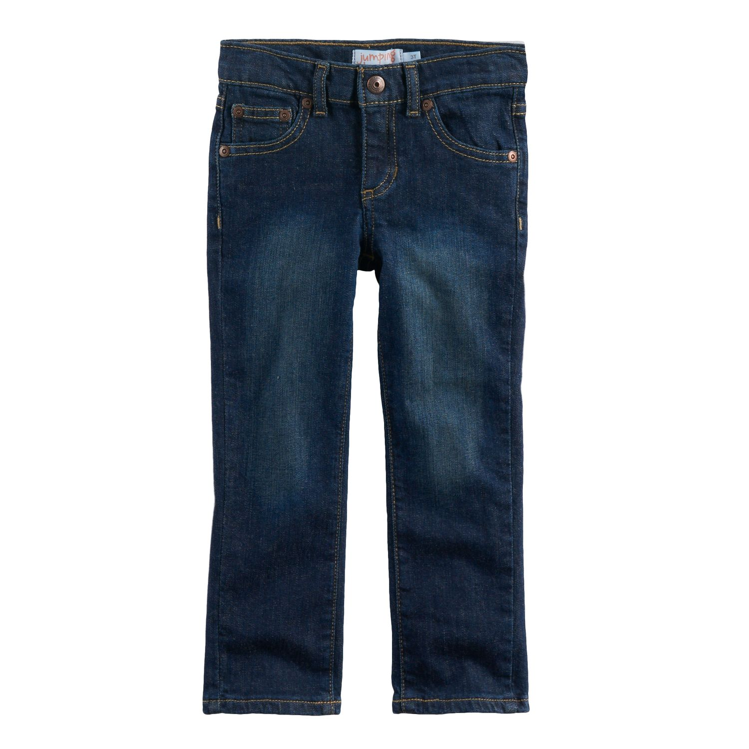 Blue skinny jeans and