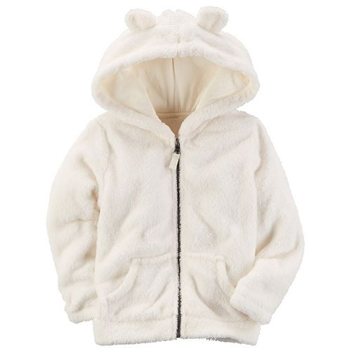 1c07138c95df Toddler Girl Carter s 3D Ear Sherpa Hoodie