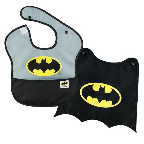 DC Comics Batman Waterproof SuperBib & Snap-On Cape Set By Bumkins