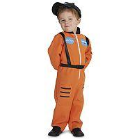 Toddler Orange Astronaut Suit Costume