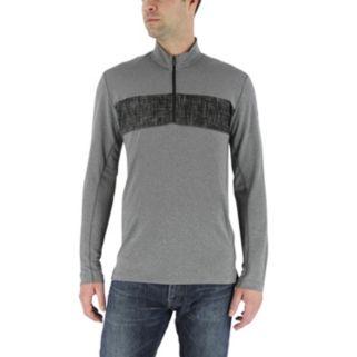 Men's adidas Classic-Fit Chest-Striped Quarter-Zip Pullover