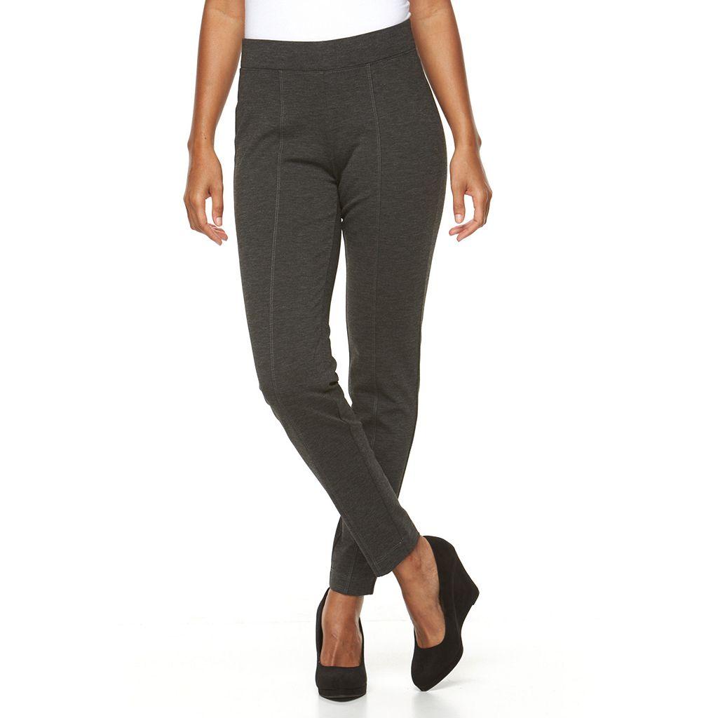 Women's Croft & Barrow® Pull-On Skinny Ponte Pants