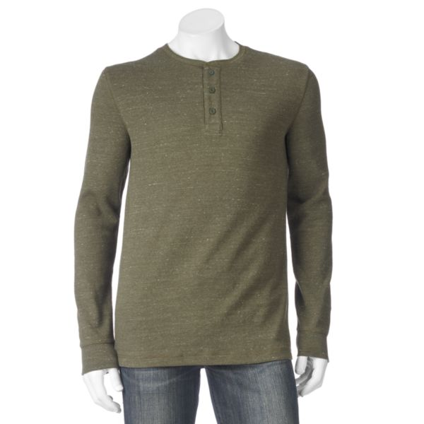Men S Sonoma Goods For Life Heathered Thermal Henley