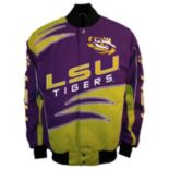Men's Franchise Club LSU Tigers Shred Twill Jacket