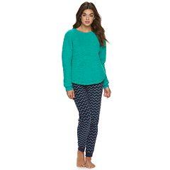 Juniors' SO® Pajamas: 2-Piece Sherpa Pajama Set