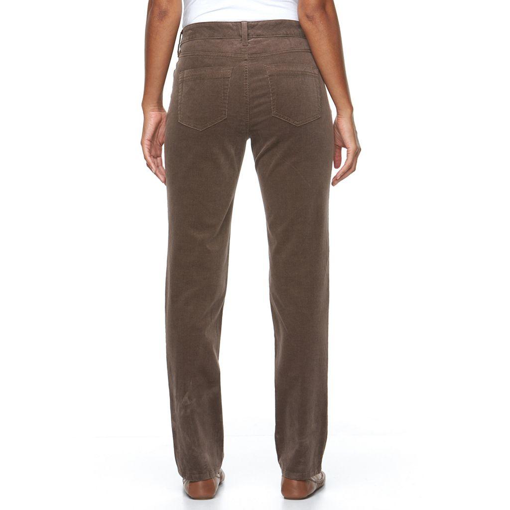 Women's Croft & Barrow® Classic Fit Straight-Leg Corduroy Pants