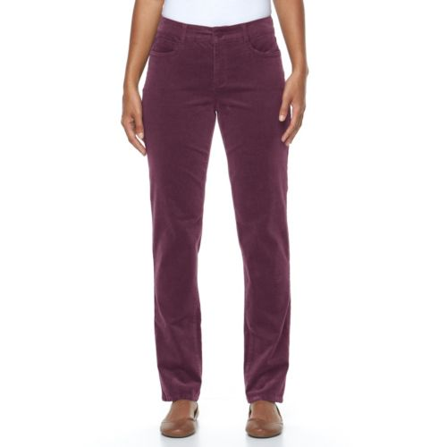 Women's Croft & Barrow® Classic Fit Straight-Leg Corduroy