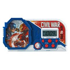 Marvel Captain America: Civil War Night Glow Alarm Clock