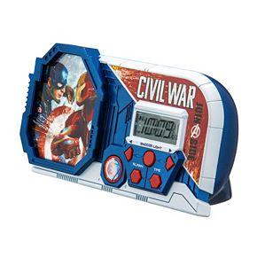 Marvel Captain America: Civil War Night Glow Alarm Clock