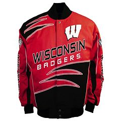Men's Franchise Club Wisconsin Badgers Shred Twill Jacket