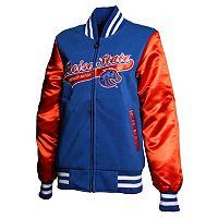Women's Franchise Club Boise State Broncos Sweetheart Varsity Jacket