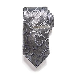 Men's Apt. 9® Patterned Tie & Tie Bar