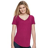 Juniors' Mudd® Short Sleeve V-Neck Tee