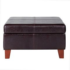 HomePop Luxury Storage Ottoman