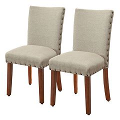 HomePop Nailhead Parsons Dining Chair 2-piece Set