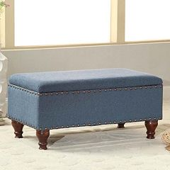 HomePop 35.5' Nailhead Storage Bench