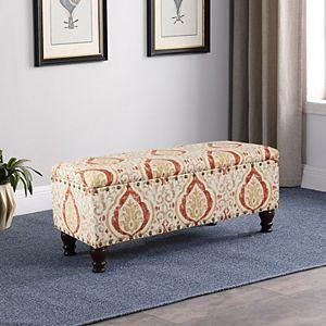 HomePop Nailhead Storage Bench