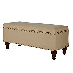 HomePop Nailhead Storage Bench