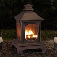 Sunjoy Lantern Style Outdoor Fireplace