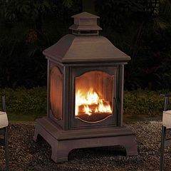 Sunjoy Lantern Style Outdoor Fireplace by