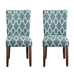 HomePop Geometric Parson Chair 2 Piece Set