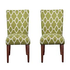 HomePop Geometric Parson Chair 2 pc Set