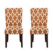 HomePop Geometric Parson Chair 2 pc Set