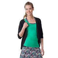 Women's Soybu Crosstown Open-Front Yoga Cardigan