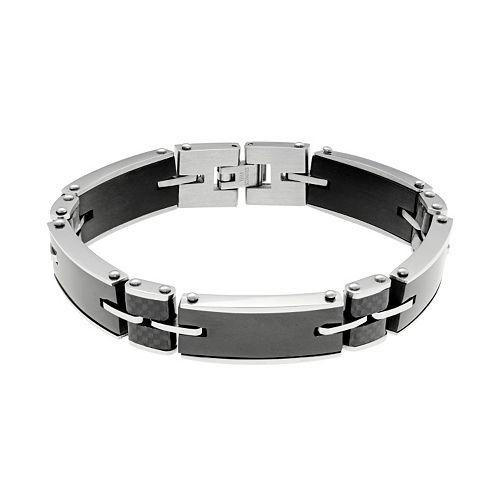 LYNX Men's Carbon Fiber & Stainless Steel Bracelet