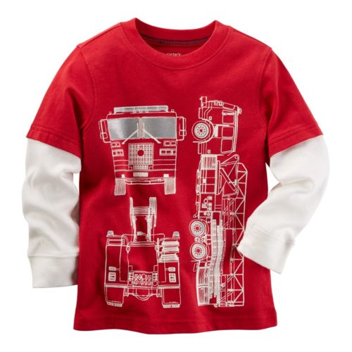 Baby Boy Carter's Mock-Layered Long Sleeve Graphic Tee