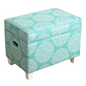 HomePop Small Printed Storage Ottoman