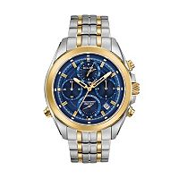 Bulova Men's Precisionist Two Tone Stainless Steel Chronograph Watch - 98B276
