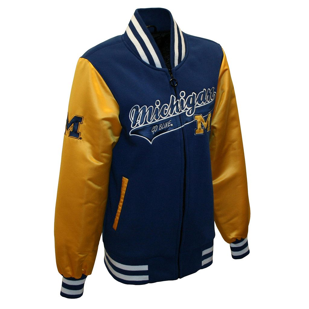 Women's Franchise Club Michigan Wolverines Sweetheart Varsity Jacket