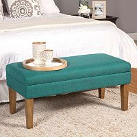 HomePop Textured Storage Bench