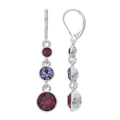 Napier Round Graduated Drop Earrings