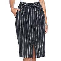 Women's Apt. 9® Tie-Front Midi Skirt