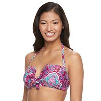 Women's Aqua Couture Paisley Halter Bikini Top