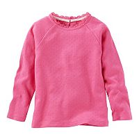 Toddler Girl OshKosh B'gosh® Ribbed Lace Neckline Top