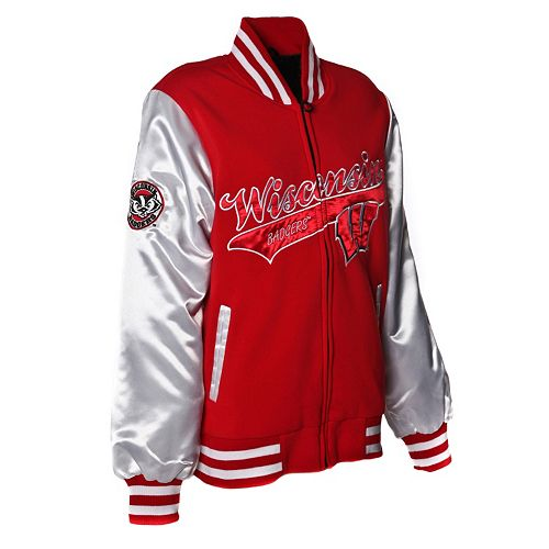 Women's Franchise Club Wisconsin Badgers Sweetheart Varsity Jacket