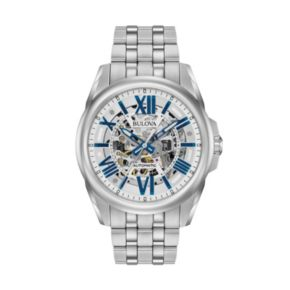Bulova Men's Stainless Steel Automatic Skeleton Watch - 96A187