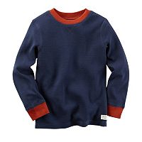 Baby Boy Carter's Contrast Color Thermal Long Sleeve Tee